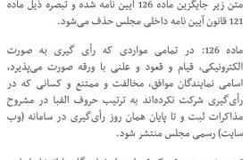 طرح دوفوریتی شفافیت آراء نمایندگان مجلس با بیش از ۱۷۰ امضا تقدیم هیئت رئیسه مجلس شد